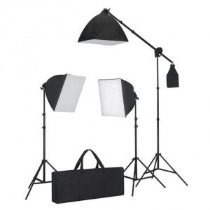 Set 3 lumini cu tripod & softbox