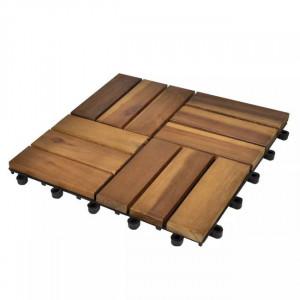 Set dale din lemn de acacia, 30 x 30 cm, 20 buc.