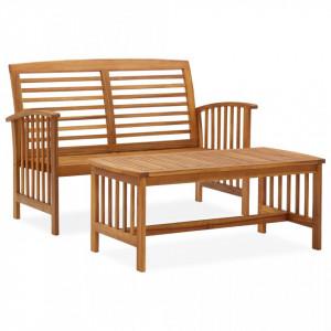 Set mobilier de grădină, 2 piese, lemn masiv de acacia