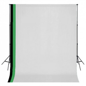 Set studio foto cu 3 fundaluri de bumbac, cadru reglabil, 3x3 m