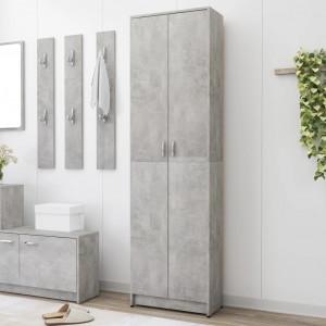 Șifonier de hol, gri beton, 55x25x189 cm, PAL