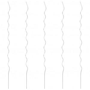Spirale pentru suport plante, 5 buc., 170 cm, oțel galvanizat