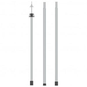 Stâlp telescopic pentru prelată, 102-260 cm, aluminiu