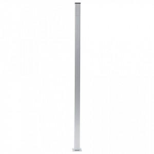 Stâlpi de gard, 3 buc., 185 cm, aluminiu