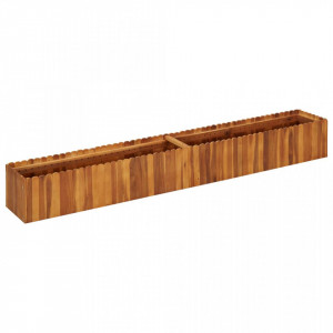Strat înălțat de grădină, 200x30x25 cm, lemn masiv de acacia