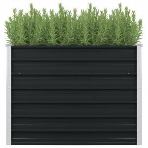 Strat înălțat de grădină antracit 100x100x77 cm oțel galvanizat