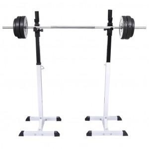 Suport haltere genuflexiuni cu halteră și set gantere 30,5 kg