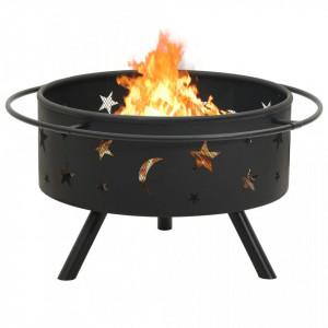 Vatră de foc cu vătrai, 76 cm, oțel, XXL