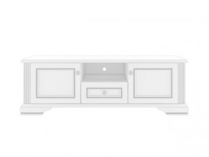 WHITE 002 TV STAND 160 SNOWY ASH-TREE/SILVER PINE