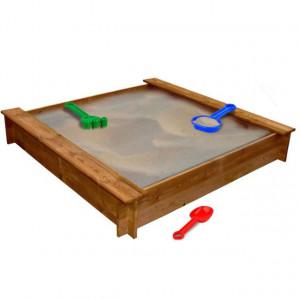 Groapă de nisip, lemn FSC, pătrat