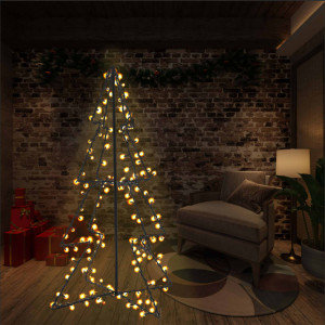 Brad Crăciun conic, 78x120 cm, 160 LED-uri, interior & exterior