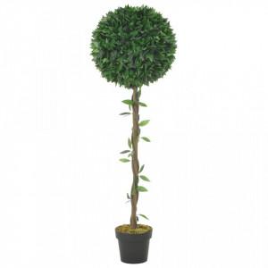 Plantă artificială dafin cu ghiveci, verde, 130 cm
