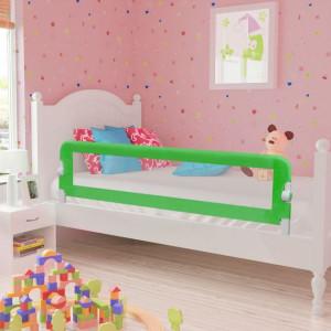 Balustradă de siguranță pentru pat de copil, verde, 150x42 cm