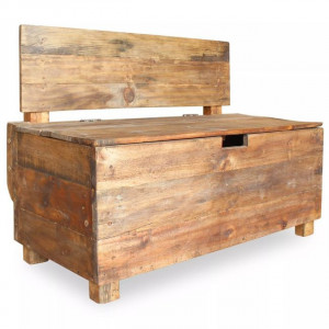 Bancă din lemn reciclat de esență tare, 86 x 40 x 60 cm