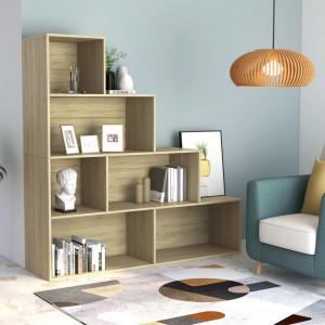 Bibliotecă/Separator cameră, stejar Sonoma, 155x24x160 cm, PAL