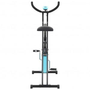 Bicicletă fitness X-Bike cu curea de rezistență, albastru