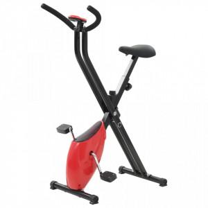 Bicicletă fitness X-Bike cu curea de rezistență, roșu