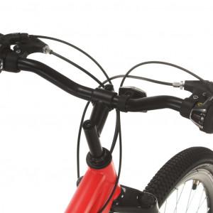 Bicicletă montană cu 21 viteze, roată 27,5 inci, roșu, 42 cm