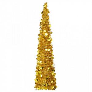 Brad de Crăciun artificial tip pop-up, auriu, 150 cm, PET