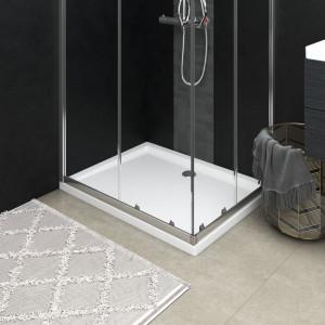 Cădiță de duș dreptunghiulară din ABS, 80x100 cm