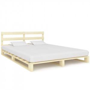 Cadru de pat din paleți, 200 x 200 cm, lemn masiv de pin