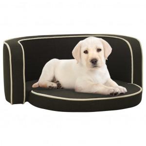 Canapea pliabilă câini gri închis 76x71x30 cm pernă lavabilă in
