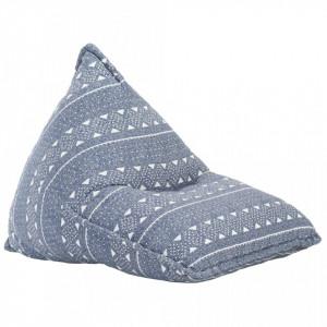 Canapea tip sac, indigo, material textil, petice