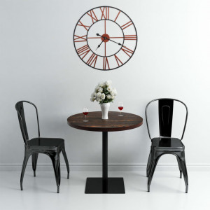 Ceas de perete, roșu, 58 cm, metal