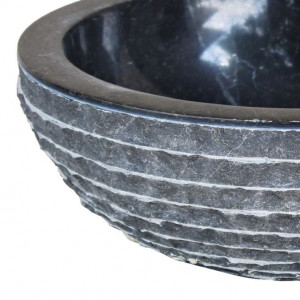 Chiuvetă, negru, 40 cm, marmură