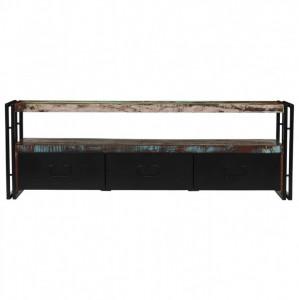 Comodă TV din lemn masiv reciclat 120 x 30 x 40 cm
