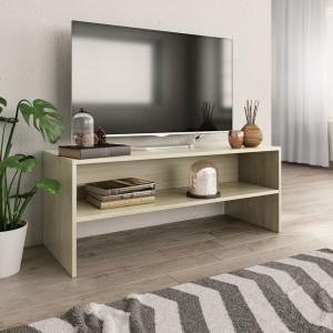 Comodă TV, stejar Sonoma, 100 x 40 x 40 cm, PAL