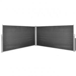 Copertină laterală retractabilă, 160 x 600 cm, negru
