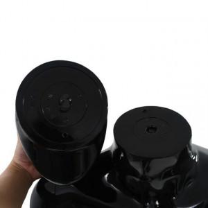 Corp manechin masculin, suport din sticlă, negru lucios, 185 cm