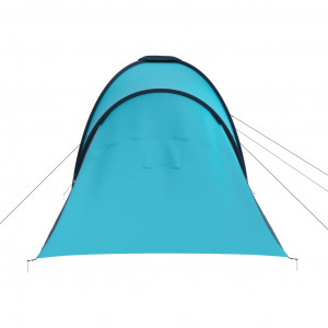 Cort camping, 6 persoane, albastru și bleu