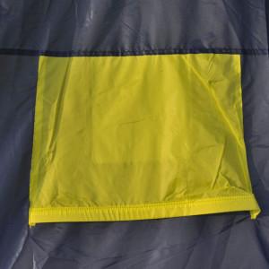 Cort camping material textil, 9 persoane, albastru și galben