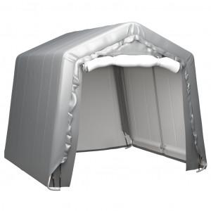Cort de depozitare, gri, 240x240 cm, oțel