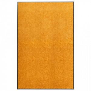 Covoraș de ușă lavabil, portocaliu, 120 x 180 cm