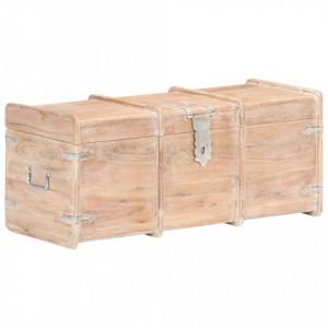 Cufăr de depozitare, 90 x 40 x 40 cm, lemn masiv de acacia