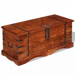 Cufăr de depozitare, lemn masiv
