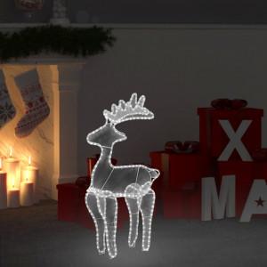 Decorațiune de Crăciun ren, cu plasă, 306 LED-uri, 60x24x89 cm