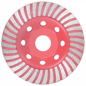 Disc de polizare diamantat tip cupă, cu turbo, 115 mm