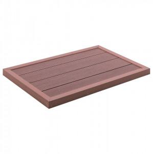 Element de podea pentru duș solar, 101 x 63 x 5,5 cm, WPC