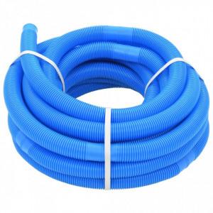 Furtun de piscină, albastru, 32 mm, 15,4 m