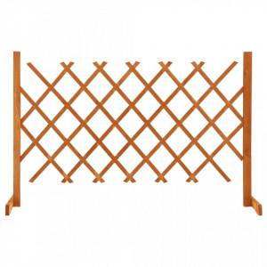 Gard cu zăbrele de grădină, portocaliu, 120x90 cm, lemn de brad