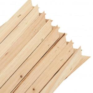Garduri din spalier, 5 buc., 180 x 60 cm, lemn de brad