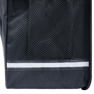 Geantă de bicicletă dublă pentru suport coș, negru, 35 L