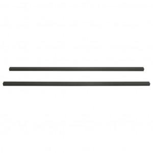 Grindă de terasă, 6 buc., negru, 170x8,5x4,5 cm, WPC