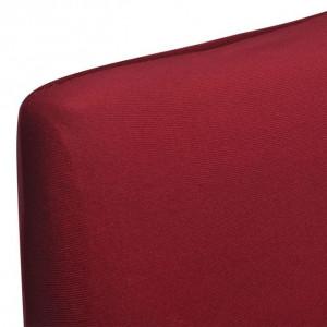 Husă elastică pentru scaun, culoare bordeaux, set 6 bucăți