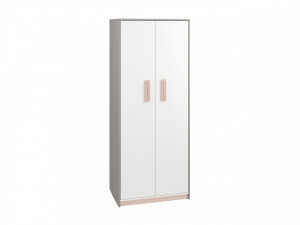 Iq 02 (Dulap pentru haine 2D) Grey Platinum/White/Bright Pink