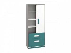 Iq 03 (Bibliotecă) Grey Platinum/White/Marine Blue